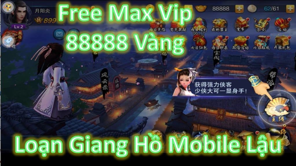 Game Lậu Moile Free ALL - Loạn Giang Hồ Mobile Lậu Free Max Vip + 88888 Vàng + Vô Số Quà Vip