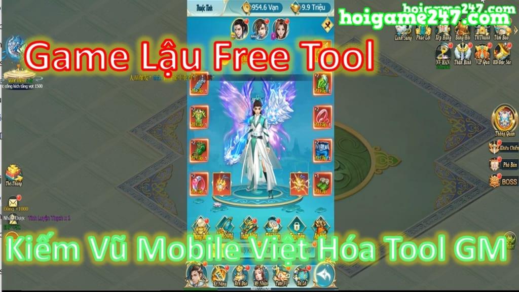 Game Lậu Việt Hóa Tool Gm Kiếm Vũ H5 Lậu Free Tool Free Max Vip 10 + 999,999,999 Vàng + Vô Số Quà Vip