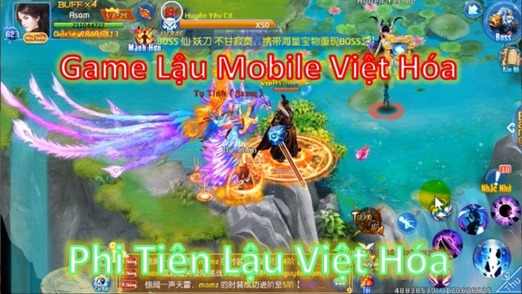 Game Lậu Mobile Việt Hóa Free ALL - Phi Tiên Mobile Lậu Free Tool GM Max Vip 25 + 999M Vàng Add Vàng Tùy Thích